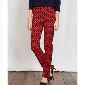 Boden Richmond Chain Red Blue Straight Pant NWT